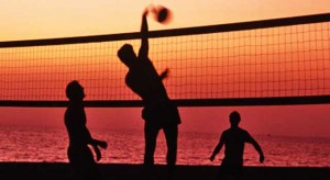 night beach volley