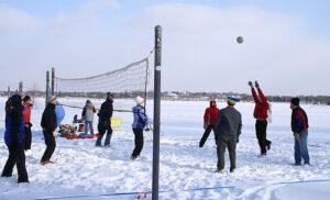 snow volley